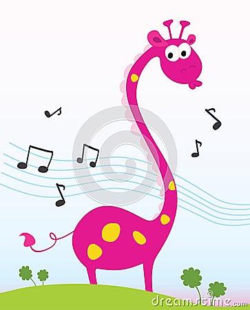 Free Singing Giraffe. Stock Image - 10041181