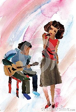 The singing girl jazz