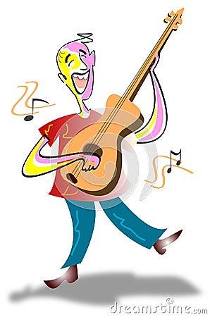 Singing guitarist