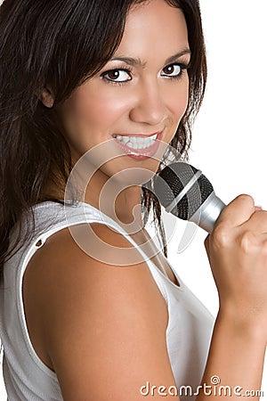 Singing Hispanic Woman