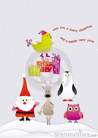Singing merry christmas
