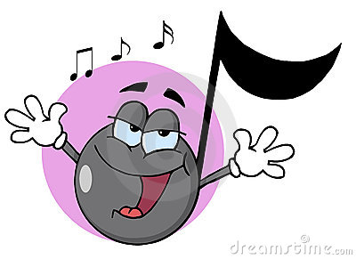 Singing music note