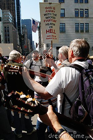 Singing and Playing - Papal Visit 2008 Editorial Image