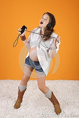 Singing Pregnant Woman