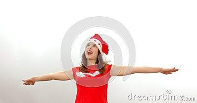 Singing Santa girl
