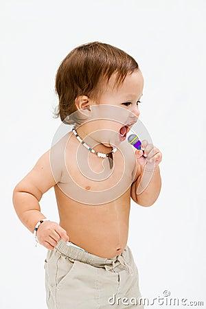 Free Singing Toddler Boy Royalty Free Stock Photo - 6955485