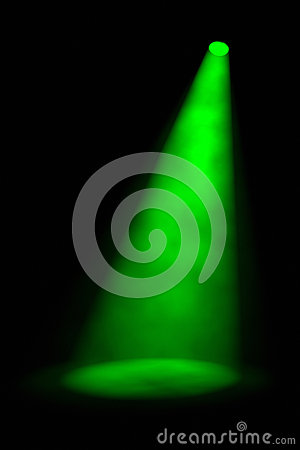 Single Angled Green Spotlight