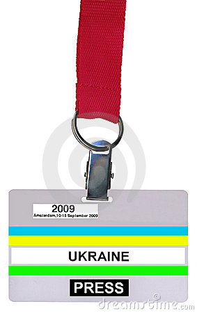 Single badge (vip pass) isolated, plastic texture