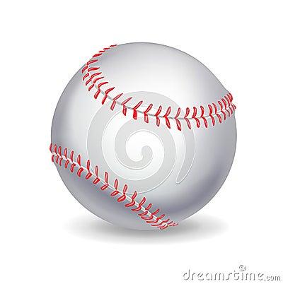 Single baseball ball