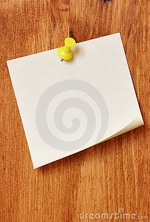 Free Single Blank Note Paper Stock Images - 3103204