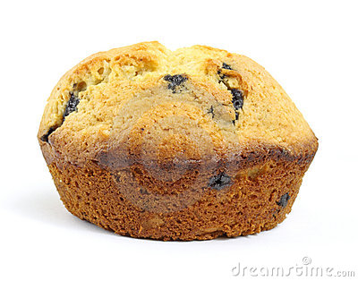 Single blueberry muffin