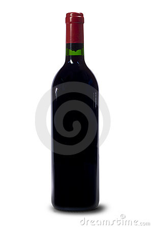 Free Single Bottle Of Red Wine Stock Photos - 1041723