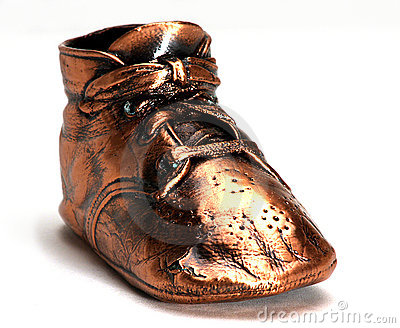 Bronze Baby Shoes Royalty Free Stock Images - Image: 298279