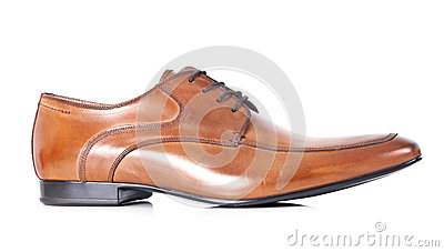 Single brown shoe