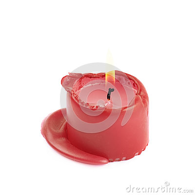 Free Single Burned To The End Candle Isolated Stock Photography - 85533352