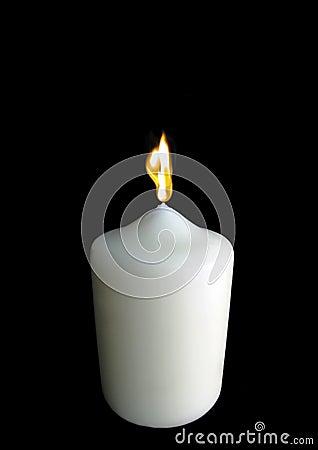 Free Single Burning Candle Royalty Free Stock Images - 18691139