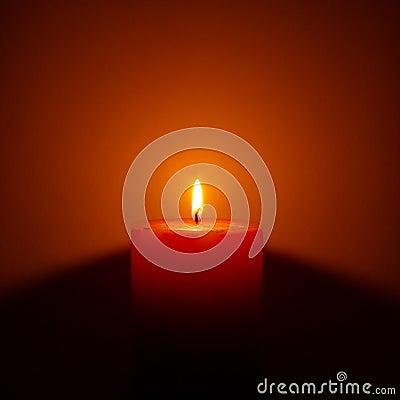 Free Single Candle Stock Photo - 10043480