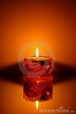 Free Single Candle Royalty Free Stock Image - 10043736