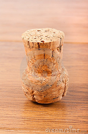 Single cork from champagne