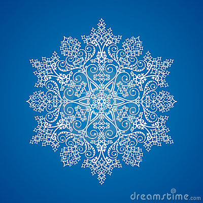 Single Detailed Snowflake Stock Photography - Image: 10822932