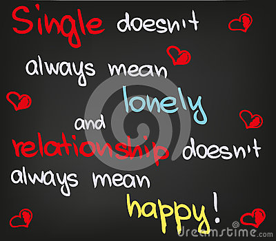Single does not mean
