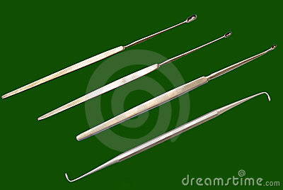 Single double ended Curretes, surgical instrum