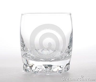 Single empty glass