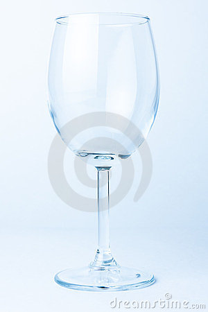 Single empty wine glass