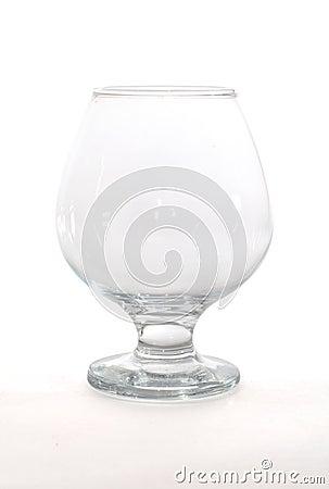 Single empty wineglass