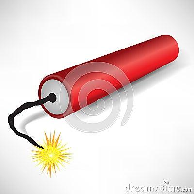 Single exploding dynamite