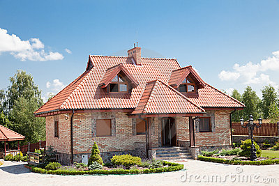 Single family house of brick