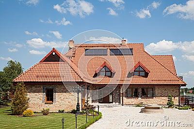 Single family house of brick