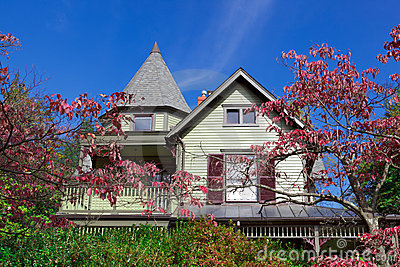 Single Family House Home Victorian Queen Anne Fall