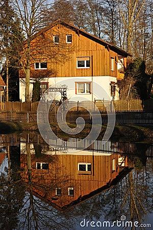 Single Family House Reflection