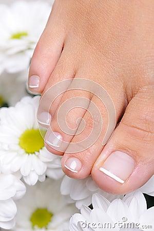 Single female foot