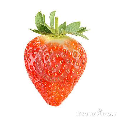 Free Single Fresh Strawberry Stock Photography - 18410562