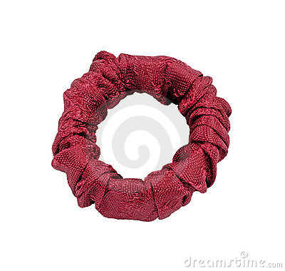 Single Gathered Fabric Napkin Ring