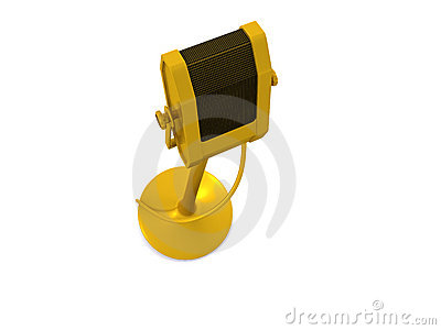 Single golden microphone