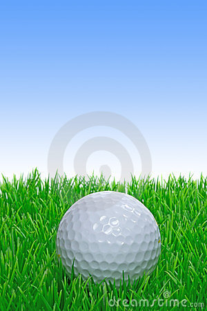 A single golf ball on grass
