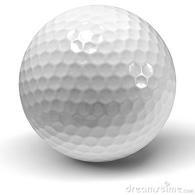 Single Golf Ball On A White Background Stock Photography ... Golf Ball On Tee Clipart