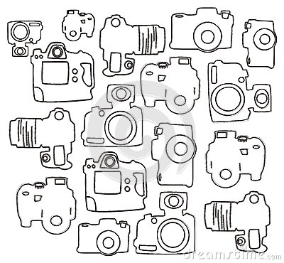 Single lens camera doodle