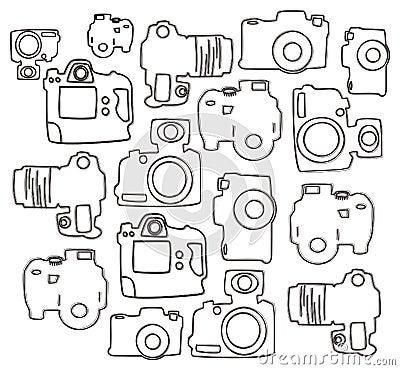 Single lens camera doodle