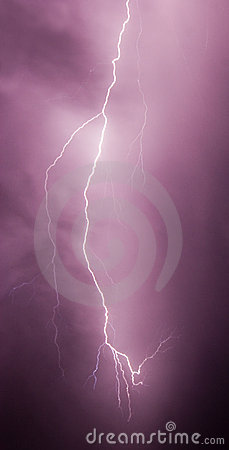 Single lightning bolt