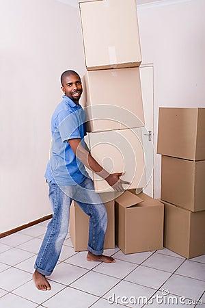 Single man moving