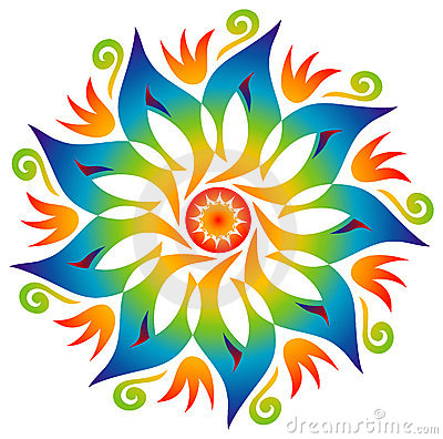 Free Single Mandala - Rainbow Colors Stock Photos - 16204533