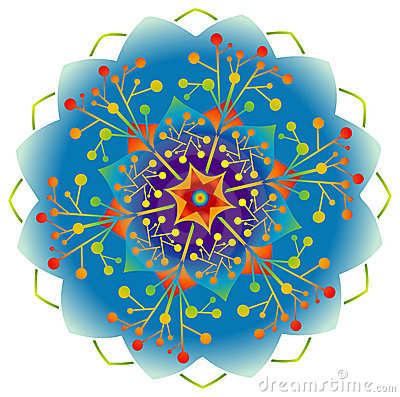 Free Single Mandala - Rainbow Colors Royalty Free Stock Photos - 16232538