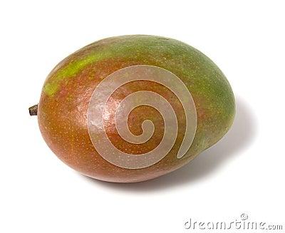 Single mango isolated on white background