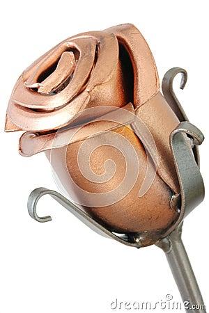 Free Single Metal Rose Stock Image - 13739271