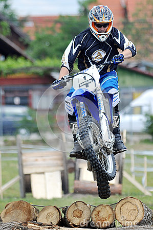 Single Motocross High Jumper in air Editorial Photography
