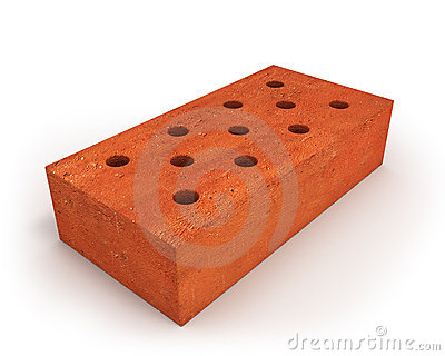 Single orange brick